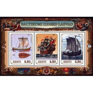 Eesti - 1997 Ajaloolised laevad, plokk **