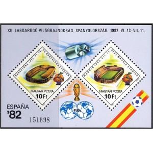 Ungari - Jalgpalli MM Espana ´82, plokk **