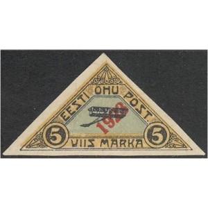 Eesti 1923, Õhupost ületrükk 5m, (MLH) *