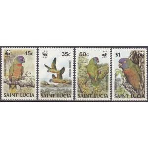 Saint Lucia - linnud 1987 (WWF), **