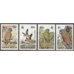 Saint Lucia - linnud 1987 (WWF), puhas