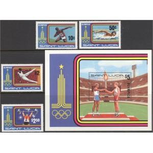 Saint Lucia - Moskva 1980 olümpia, **