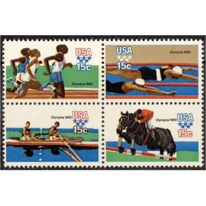 USA - Moskva 1980 olümpia (II), nelikpl. **