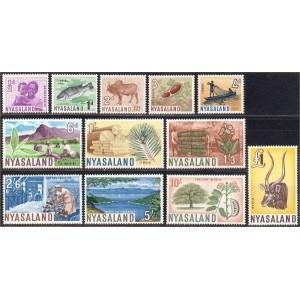 Nyasaland -  maastik, fauna 1964, puhas