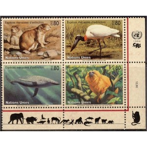 ÜRO (Genf) - fauna: imetajad, linnud 1994, **
