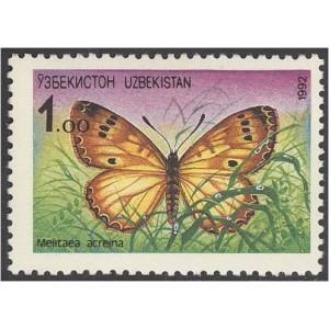 Uzbekistan - liblikas 1992, puhas
