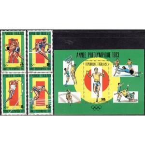 Togo - Los Angeles 1984 olümpia, **