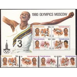 Tansaania - Moskva 1980 olümpia (I), **