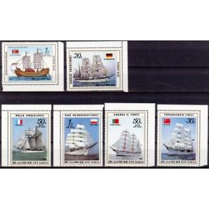 Põhja-Korea - purjelaevad 1987, **