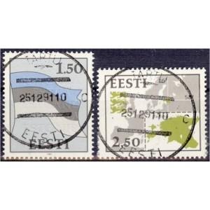 Eesti - 1991 Eesti lipp ja kaart, templiga