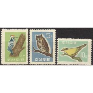 Põhja-Korea - linnud 1961, **