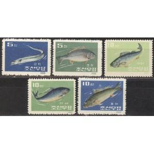 Põhja-Korea - kalad 1962, **