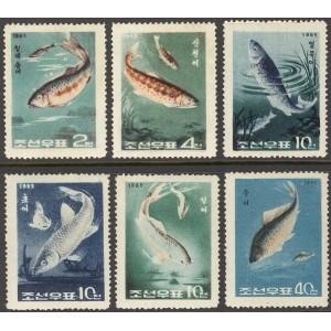 Põhja-Korea - kalad 1965, **