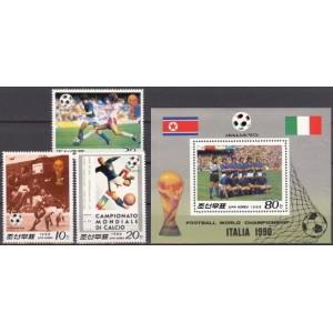 Põhja-Korea - Italia ´90 jalgpalli MM, MNH