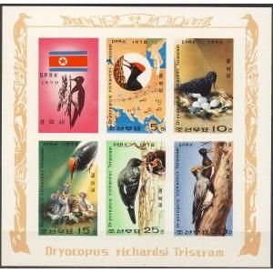 Põhja-Korea - linnud 1978, lõigat. väikep. **