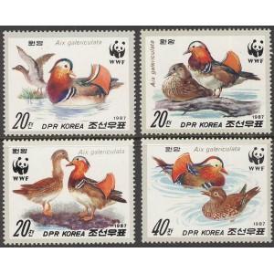Põhja-Korea - linnud WWF 1987, **