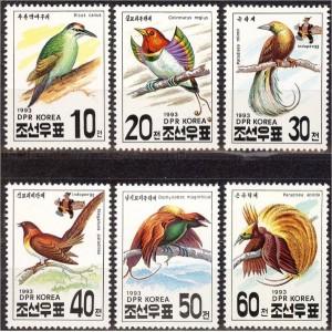 Põhja-Korea - linnud 1993, **