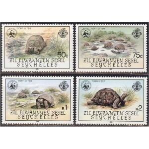Zil Elwannyen Sesel - kilpkonnad 1985 WWF, **
