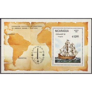 Nicaragua - purjelaev 1981, **
