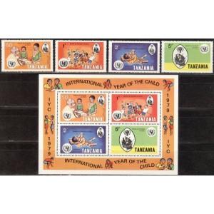 Tansaania - rahvusvaheline lasteaasta 1979, **