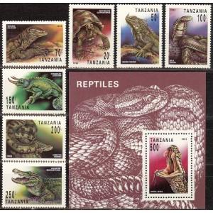 Tansaania - kahepaiksed, roomajad 1993, **