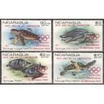 Nicaragua - olümp. Moskva ´80, kilpkonnad, **