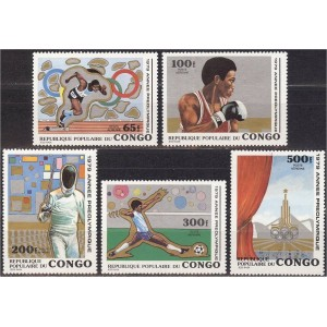 Kongo - Moskva 1980 olümpia, **