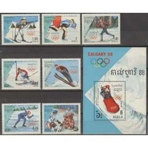 Kampuchea - Calgary 1988 olümpia, **