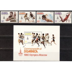 Dominica - Moskva 1980 olümpia, **