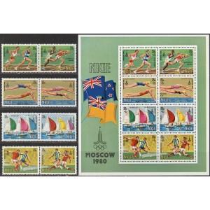 Niue - Moskva 1980 olümpia, **