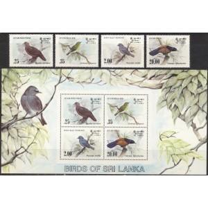 Sri Lanka - linnud 1983, **