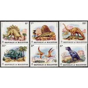 Maldives - eelajaloolised loomad 1972, **