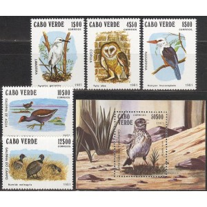 Cabo Verde - linnud 1981, **