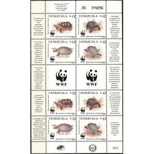 Venezuela - kilpkonnad WWF 1992, väikep. **