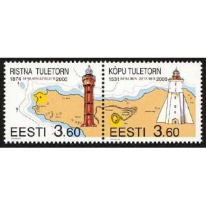 Eesti - 2000 Ristna ja Kõpu tuletorn, **