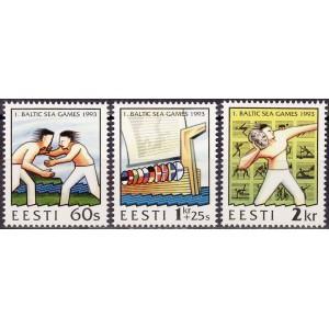 Eesti - 1993 1. Läänemere mängud, **
