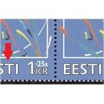 """Eesti - Lillehammer 1994, katkine """"T"""" nelik, **"""