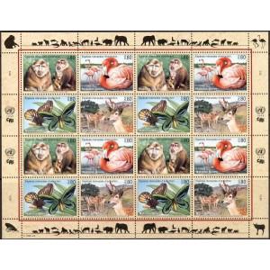 ÜRO (Genf) - loomad, liblikad, linnud 1998, **