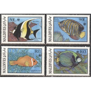 Maldives - kalad WWF 1986, **