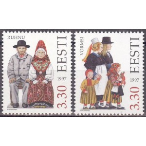 Eesti - 1997 rahvariided Ruhnu ja Vormsi, **
