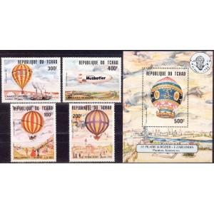Tchad - 200 aastat õhusõitu, õhupallid 1983, **