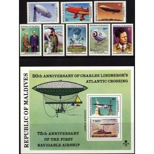Maldives - lennunduse ajalugu 1977, **