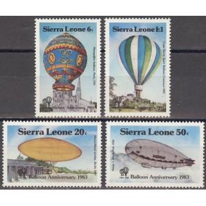 Sierra Leone - õhupallid ja dirizaablid 1983, **