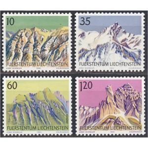 Liechtenstein - maastik, mäed 1990, **