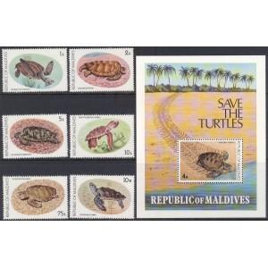 Maldives - merekilpkonnad 1980, **