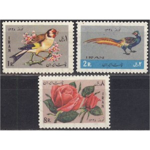 Iraan - linnud, lilled 1969, **