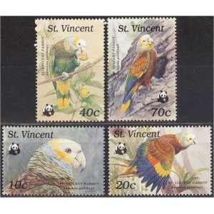 St. Vincent - linnud WWF 1989, **