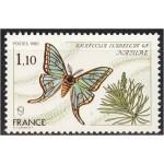 Prantsusmaa - liblikad 1980, **