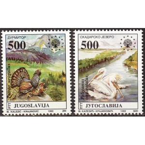 Jugoslaavia - linnud 1992, **