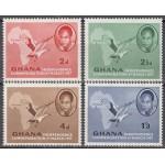 Ghana - linnud ja maakaart 1957, **